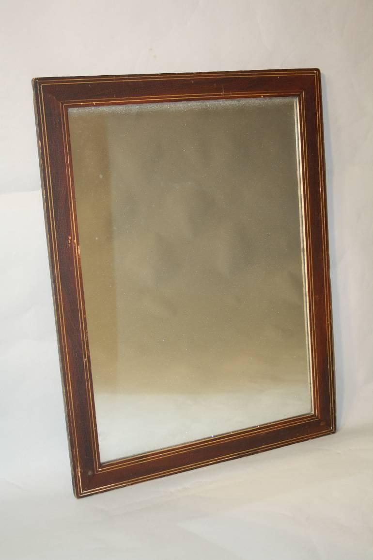 Small mercury glass mirror
