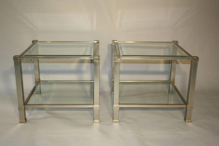 Pierre Vandel two tier side tables