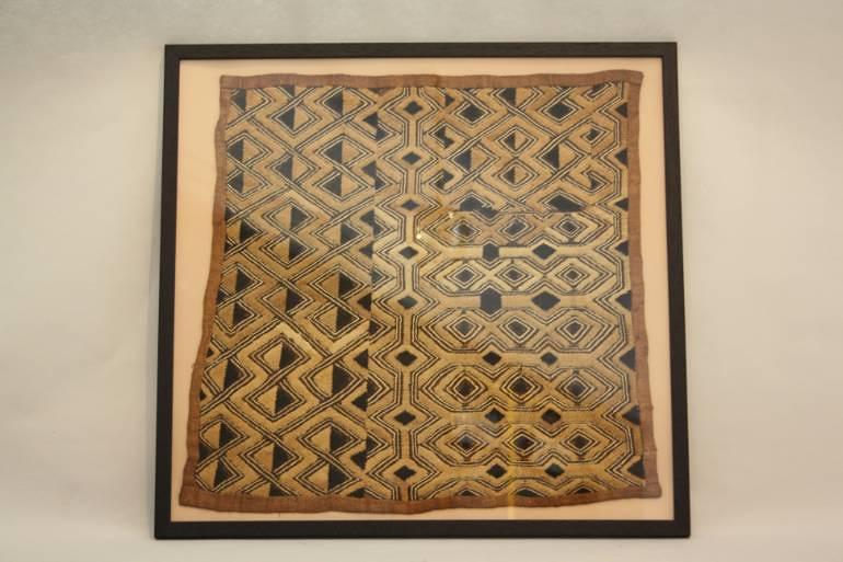 Framed African Kuba Textiles