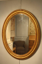 French C19th antique oval mirror - picture 3