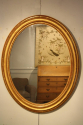 French C19th antique oval mirror - picture 5