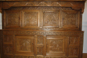 Antique Oak court cupboard, beautifully carved 18thC example - picture 3