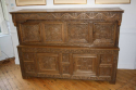 Antique Oak court cupboard, beautifully carved 18thC example - picture 6