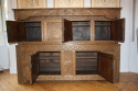 Antique Oak court cupboard, beautifully carved 18thC example - picture 8