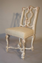 Italian gesso chair with carved masked detail. - picture 5