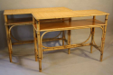 Pair of bamboo and rattan consoles - picture 2