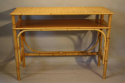 Pair of bamboo and rattan consoles - picture 3