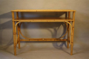 Pair of bamboo and rattan consoles - picture 4