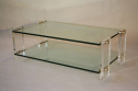 Two tier glass and lucite coffee table, Italian, c1970 - picture 1