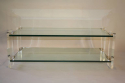 Two tier glass and lucite coffee table, Italian, c1970 - picture 2
