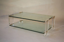 Two tier glass and lucite coffee table, Italian, c1970 - picture 3