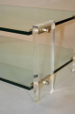 Two tier glass and lucite coffee table, Italian, c1970 - picture 4