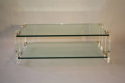 Two tier glass and lucite coffee table, Italian, c1970 - picture 5
