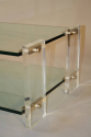 Two tier glass and lucite coffee table, Italian, c1970 - picture 6