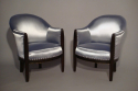 A pair of reeded leg Art Deco tub chairs, French c1930 - picture 2