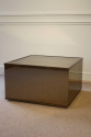 Brown mirror box coffee table with metal edges, French c1970 - picture 4