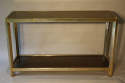 Soft gold two tier console table - picture 3
