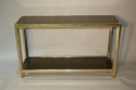 Soft gold two tier console table - picture 4