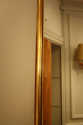 Narrow framed soft gold bistro mirror - picture 10