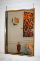 Narrow framed soft gold bistro mirror - picture 2
