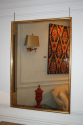 Narrow framed soft gold bistro mirror - picture 3