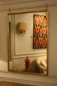 Narrow framed soft gold bistro mirror - picture 4
