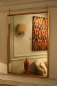 Narrow framed soft gold bistro mirror - picture 5