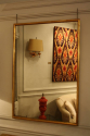 Narrow framed soft gold bistro mirror - picture 6