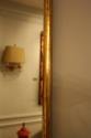 Narrow framed soft gold bistro mirror - picture 7