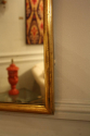 Narrow framed soft gold bistro mirror - picture 8