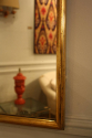 Narrow framed soft gold bistro mirror - picture 9
