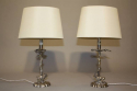 A pair of silver Valenti stag table lamps, c1950 - picture 1