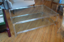 Large rectangular lucite two tier coffee table, French c1970 - picture 1