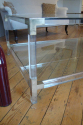 Large rectangular lucite two tier coffee table, French c1970 - picture 2