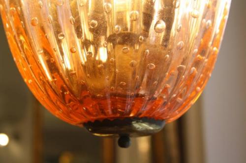 A Venetian glass ceiling light, Italian c1950
