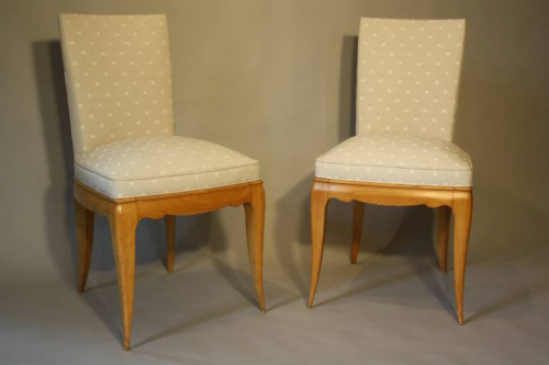 A pair of Rene Prou chairs, c1935