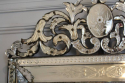 Antique Venetian mirror with pierced cartouche, C19th - picture 4