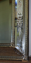 Antique Venetian mirror with pierced cartouche, C19th - picture 9