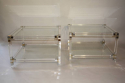 A pair of lucite two tier tables, French c1970 - picture 3
