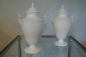 Victorian bone china pair of jardineers with curled horn Ram motif - picture 1