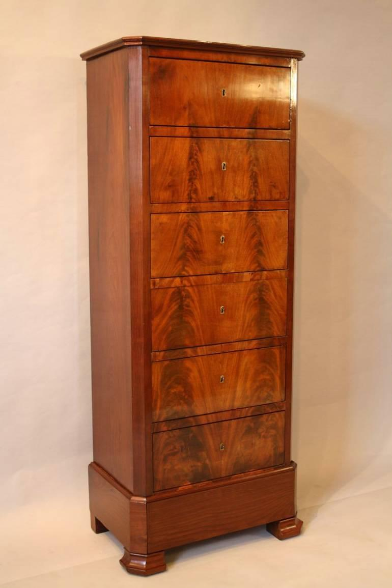 Flame Mahogany tall boy