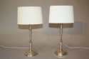 Silver candlestick table lights - picture 1
