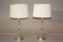 Silver candlestick table lights - picture 2