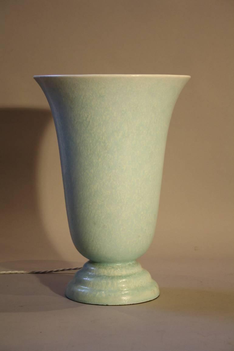Art Deco ceramic uplight