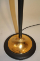 Black and gold metal floor lamp, c1950 French - picture 2