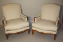 A pair of French Walnut armchairs - picture 1