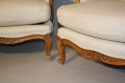 A pair of French Walnut armchairs - picture 6