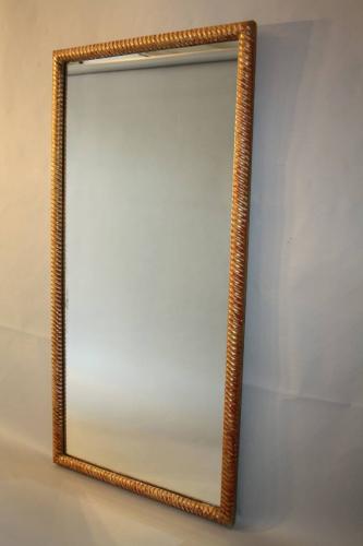 C19th rectangular rope twist mirror