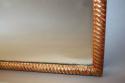 C19th rectangular rope twist mirror - picture 6