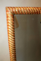 C19th rectangular rope twist mirror - picture 8